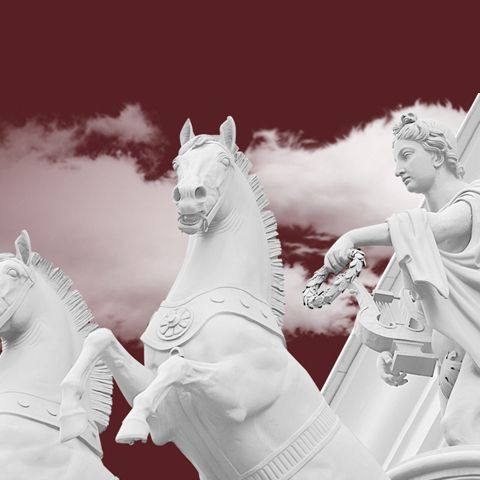 Мобильный баннер большой театр карета с лошадьми