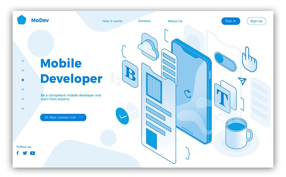 Скриншот дизайн и структура