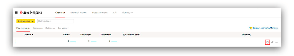 Скриншот выдача доступа к счетчику